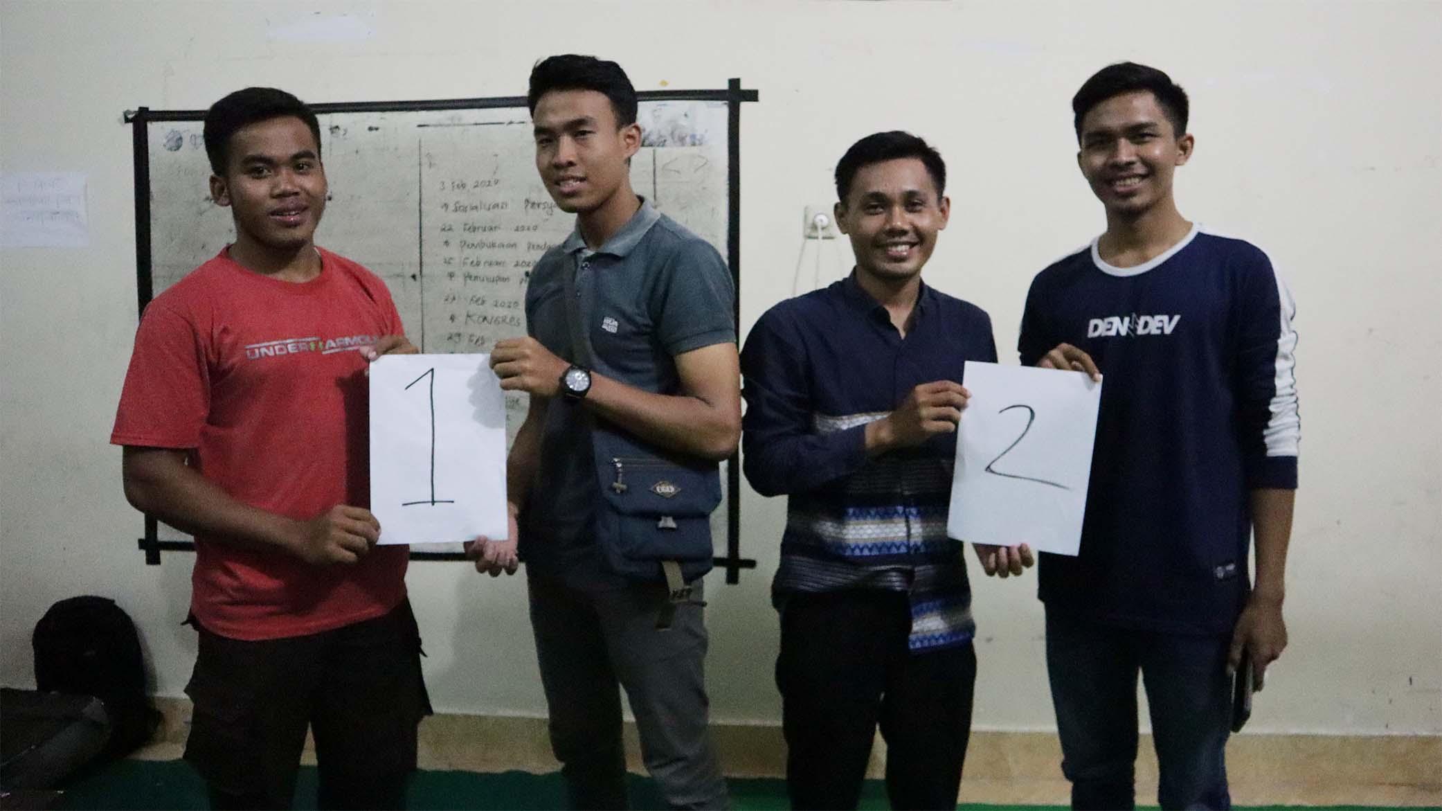 Dua Kandidat Calon Presiden dan Wakil Presiden Mahasiswa UNHAM Ambil Nomor Urut Dan Siap Bertarung