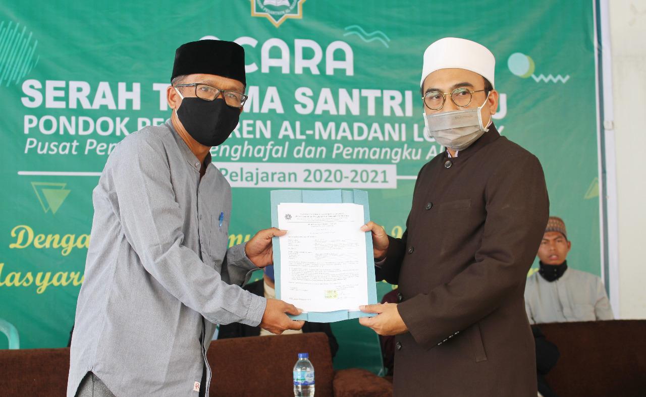 Ponpes Al-Madani Gelar Silaturrahmi dan Serah Terima Santri Baru 2020