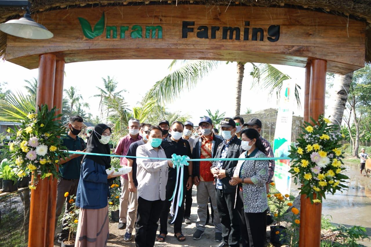 Rektor Universitas Mataram Luncurkan Taman Edukasi Unram Farming